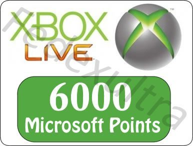 6000 Microsoft Points
